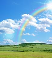 【画像】空と虹
